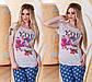 """Летняя стильная женская футболка 3255 """"YOU"""", фото 3"""