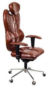 """Кресло Grande (Гранд) экокожа коричневая,шов """"Design"""" (ТМ Kulik System)"""