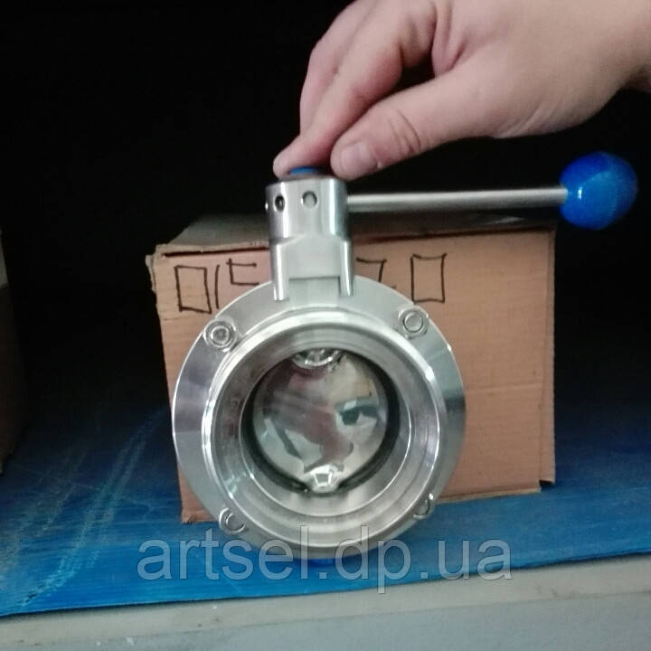 Клапан дисковый нержавеющий от DN20 по DN100
