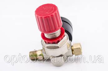 Редуктор + манометр давления малый для прямой автоматики (2 выхода) для компрессора, фото 2