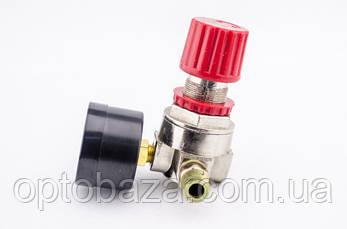 Редуктор + манометр давления малый для прямой автоматики (2 выхода) для компрессора, фото 3