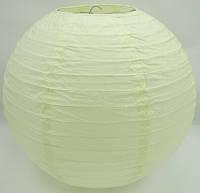 Китайские бумажные шары  35 см. молочный