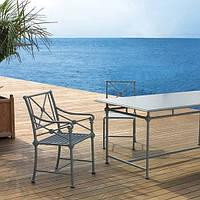 Комплект мебели в стиле Прованс из алюминия