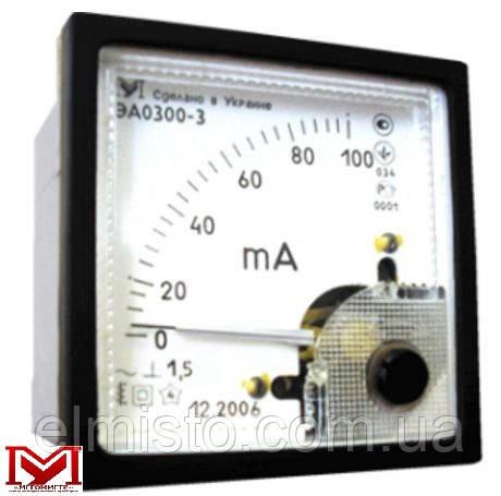 Амперметр ЭА0300-3 аналоговый переменного тока электромагнитной системы