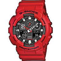 Часы мужские наручные в стиле Casio G-Shock GA-100 красные (Касио Джи Шок) электронные противоударные, фото 1