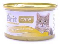 Консервы для кошек Brit Care Куриное филе и сыр в соусе 80 гр.