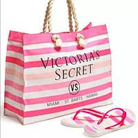 Пляжная сумка Victorias Secret c вьетнамкими 38-39 размера