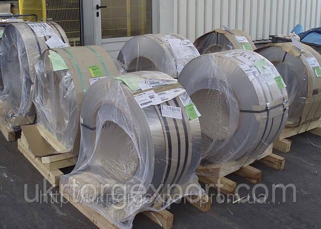 Лента нержавеющая стальная 0,79мм*400мм материал: 1,4310 (AISI 301, 12Х18Н9 ) нагартованная (твёрдая)