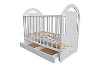 """Детская белая кроватка из натурального дерева """"Фрегат"""""""