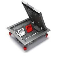 Напольный лючок Schneider Electric Ultra на 4 механизма Unica, ETK44108, фото 1
