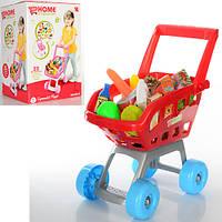 Тележка детская с продуктами КРАСНАЯ арт. 668-06