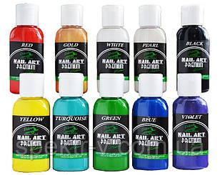 Краска для ногтей для аэрографа на водной основе PREMIUM* Nail-Art* Water series  (набор 10х30ml)