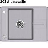 Гранітна мийка AquaSanita Bella SQB-102 (670х500 мм.), фото 7