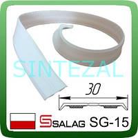 Гибкий  самоклеющийся уголок SALAG, белый. 15х15 мм.