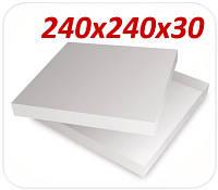 Коробка для пиццы 240х240х30 мм (крышка-дно)