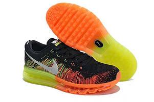 Мужские кроссовки Nike Air Max Flyknit в черно-оранжевом цвете