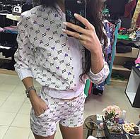 Модный женский костюм (кофта +шорты)