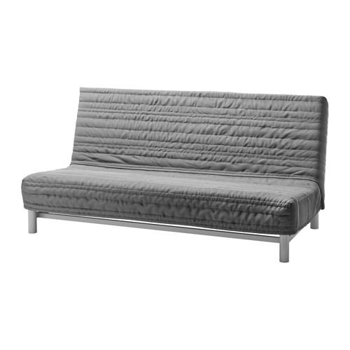 """IKEA """"БЕДИНГЕ ЛЁВОС"""" Диван-кровать 3-местный, Книса светло-серый"""