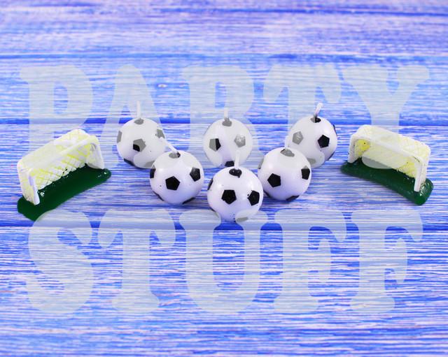Свечи для торта Футбольные мячи и ворота