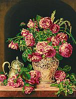 Схема для вышивки бисером POINT ART Чайные розы, размер 30х39 см