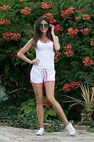 Костюм женский Молодёжный adidas с шортиками ткань х/б цвет белый