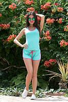 Костюм женский Молодёжный adidas с шортиками ткань х/б цвет мята
