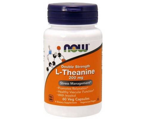NOW Foods Double Strenght L-Theanine 200 mg 60 капсул, фото 2