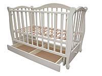 Белая деревянная кровать для новорожденных «Сказка»
