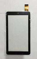 Оригинальный тачскрин / сенсор (сенсорное стекло) Триколор ТВ GS700 (черный без выреза под динамик самоклейка)