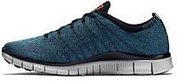 Мужские кроссовки Nike Free Flyknit NSW Squadron Blue, найк фри ран