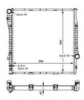 Радиатор BMW E53 X5 3.0 d 4.4I 4.6-4.8 is 03-> АКП 590*597*40 17101439101