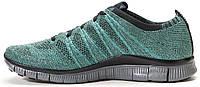 Женские кроссовки Nike Free Flyknit NSW Rough Green, найк фри ран