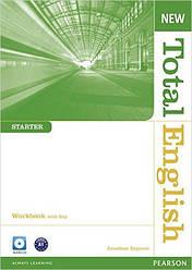 New Total English Starter Workbook with Key and Audio CD Pack (рабочая тетрадь с ключами и аудио диском)