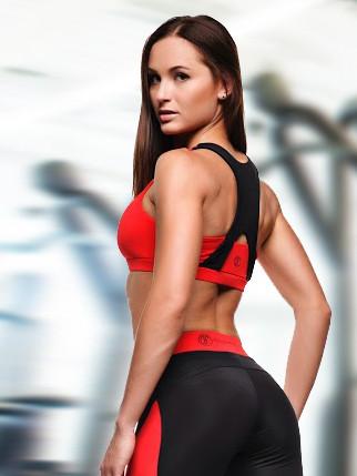 Basic Red  топ для фитнеса