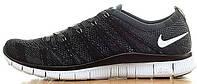 Мужские кроссовки Nike Free Run 5.0 Flyknit NSW Black White, найк фри ран