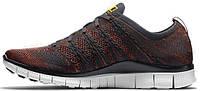 Женские кроссовки Nike Free Flyknit NSW Laser Orange, найк фри ран