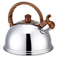 Чайник из нержавеющей стали со свистком 2,7л Kamille 0672