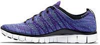 Женские кроссовки Nike Free Flyknit NSW Court Purple, найк фри ран