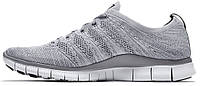 Женские кроссовки Nike Free Run 5.0 Flyknit NSW Light Grey, найк фри ран, флайкнайт