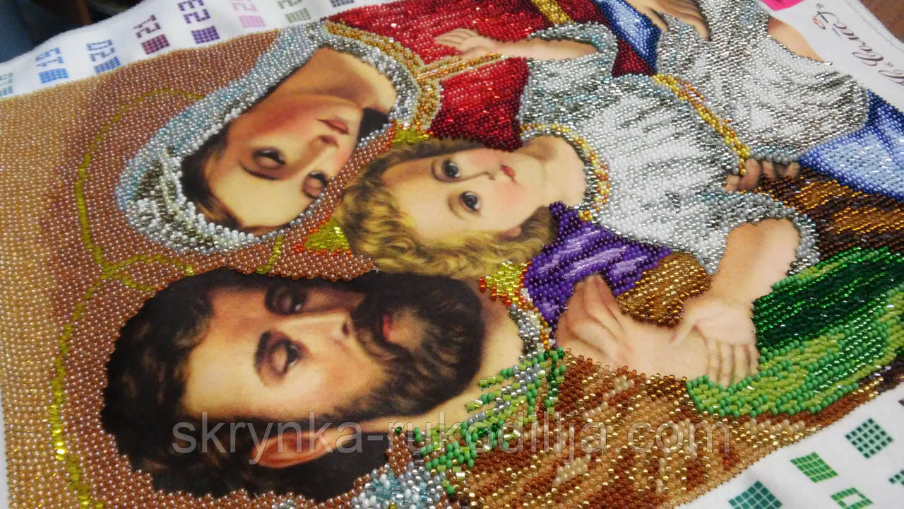 Вишивка ікони бісером Святе сімейство 25.40 X 33.87  продажа ec6615b4f94fa