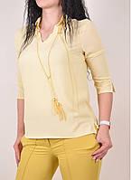 Блуза шифоновая женская (цв.желтый) PARKhande Размеры в наличии : 42,44,46,48 арт.9233 (производство Турция) (