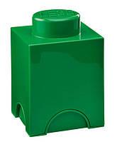Одноточечный зеленый контейнер для хранения Lego PlastTeam 40011734