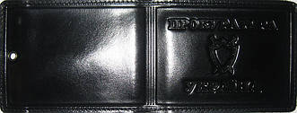Кожаная обложка для удостоверения работников прокуратуры чёрный глянец