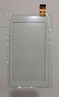 Оригинальный тачскрин / сенсор (сенсорное стекло) Триколор ТВ GS700 (белый, без выреза под динамик,самоклейка)