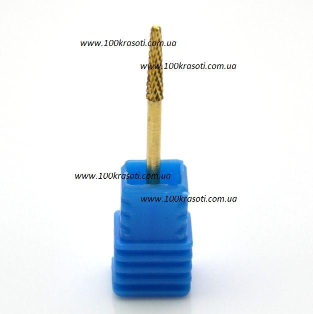 Фреза для ногтей золотой конус узкий - 006