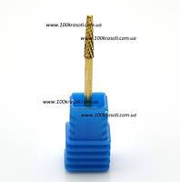 Фреза для ногтей золотой конус узкий - 006, фото 1