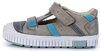 Летние кожаные туфли Grey 033-37L/31-36