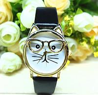 """Женские наручные часы """"кот в очках"""""""