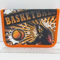 """Пенал школьный """"Баскетбол"""" на 1 молнии, с расписанием, 1 отделение, 2 отворота"""