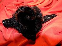 Норковая брошка украшение на шубу